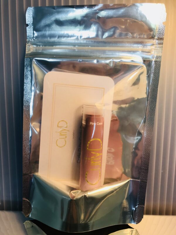 Pink Coco Lip Stain natural organic Curly D front