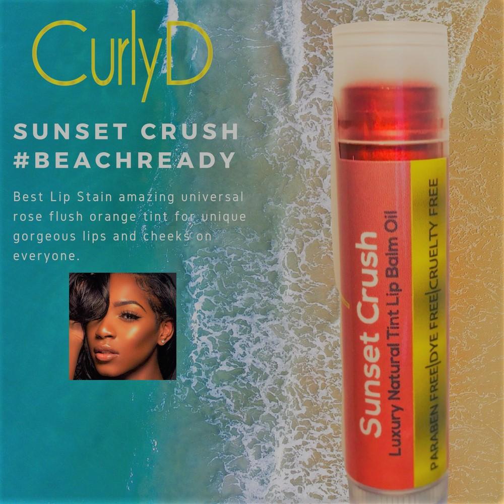 Sunset Crush Lip Stain Tint Curly D #BeachReady