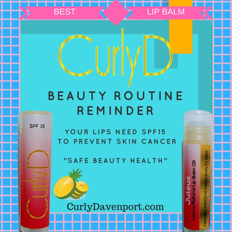 Beauty Routine Reminder Juteux Curly D by Curly Davenport